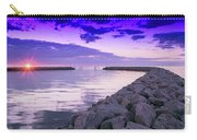 Rock Jetty Sunrise Carry-all Pouch