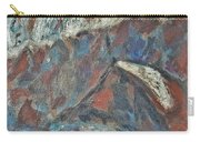 Rock Landscape Abstract  Fall Waves And Forests Swirling In The Background In Red Blue Orang Carry-all Pouch