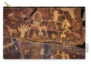 Rock Wall Of Petroglyphs Carry-all Pouch