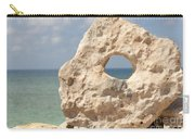 Rock With A Hole With A Tropical Ocean In The Background. Carry-all Pouch