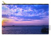 Rockaway Point Dock Sunset Violet Orange Carry-all Pouch