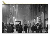 Rockefeller Center Christmas Tree Black And White Carry-all Pouch
