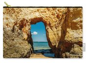 Rocks And Ocean Landscape In Lagos, Wall Art Print, Landscape Art, Poster Decor, Printable Photo Carry-all Pouch