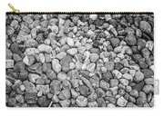 Rocks From Beaches In Black And White Carry-all Pouch