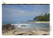 Rocks Trees And Ocean Carry-all Pouch