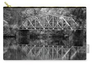 Rocks Village Bridge In Black And White Carry-all Pouch