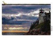Rocky Cliffs Below Maine Lighthouse Carry-all Pouch