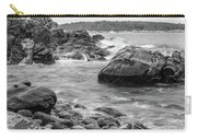 Rocky Coast Of Maine In Bw Carry-all Pouch by Doug Camara