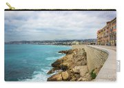 Rocky Coastline In Nice, France Carry-all Pouch