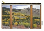 Rocky Mountain Autumn Picture Window View Carry-all Pouch