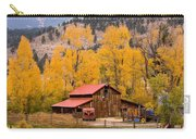 Rocky Mountain Autumn Ranch Landscape Carry-all Pouch