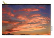 Rocky Mountain Front Range Sunset Carry-all Pouch