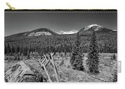 Rocky Mountain National Park Black And White Carry-all Pouch