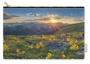 Rocky Mountain National Park Summer Sunflowers Pano 1 Carry-all Pouch