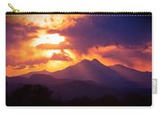 Rocky Mountain Sunset Carry-all Pouch