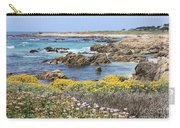 Rocky Surf With Wildflowers Carry-all Pouch
