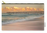 Rodanthe Fishing Pier Sunset On The Outer Banks In Carolina Panorama Carry-all Pouch