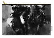 Rodeo In Black Carry-all Pouch