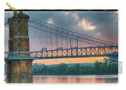Roebling Suspension Bridge - Cincinnati, Ohio Carry-all Pouch