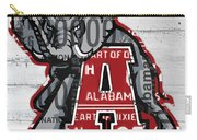 Roll Tide Alabama Crimson Tide Recycled State License Plate Art Carry-all Pouch