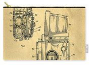Rolleiflex Medium Format Twin Lens Reflex Tlr Patent Carry-all Pouch
