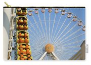 Roller Coaster And Ferris Wheel Carry-all Pouch