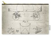 Roller Skate Patent - Patent Drawing For The 1882 F. A. Combes Roller Skate Carry-all Pouch