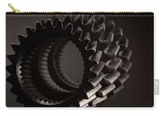 Rollin' Gears Black And White Carry-all Pouch