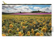 Rolling Hills Of Flowers In Summer Carry-all Pouch
