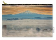 Rolling Low Fog Over City Of Portland Carry-all Pouch