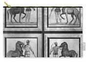 Roman Mosaic: Charioteers Carry-all Pouch