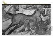 Roman Mosaic: Man & Horse Carry-all Pouch