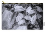 Romantic Island Iris In Black And White Carry-all Pouch