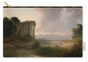 Romantic Landscape With A Temple Carry-all Pouch