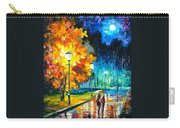 Romantic Night 2 - Palette Knife Oil Painting On Canvas By Leonid Afremov Carry-all Pouch