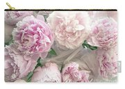 Romantic Shabby Chic Pastel Pink Peonies Bouquet - Romantic Pink Peony Flower Prints Carry-all Pouch