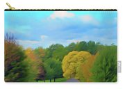 Romantic Skies Autumn Road Carry-all Pouch