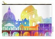 Rome Landmarks Watercolor Poster Carry-all Pouch