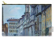 Rome Piazza Navona Carry-all Pouch by Ylli Haruni