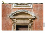 Rome Windows And Balcony Textured Carry-all Pouch