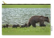 Romping By The Lake With Mama Bear Carry-all Pouch