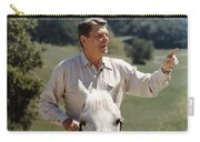 Ronald Reagan On Horseback  Carry-all Pouch