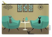 Room With Dark Aqua Chairs 2 Carry-all Pouch