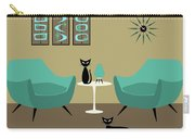 Room With Dark Aqua Chairs Carry-all Pouch