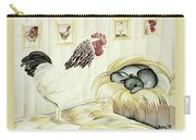 Rooster And Cat Carry-all Pouch