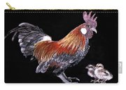 Rooster And Chicks Carry-all Pouch