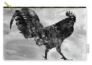 Rooster-black Carry-all Pouch