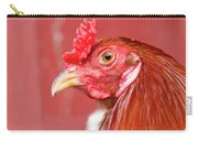 Rooster Close-up On A Reddish Background Carry-all Pouch
