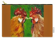 Rooster Face Off Carry-all Pouch