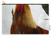 Rooster In Miami Backyard Carry-all Pouch